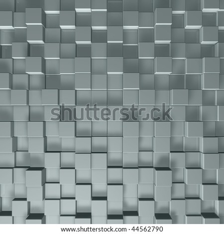 cubes background - 3d illustration