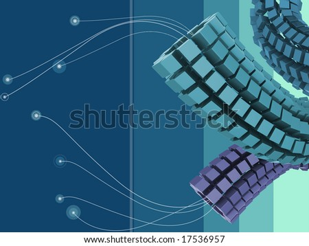 cubes 3d illustration background