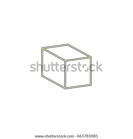 Cubes. Flat icon on white background. Simple illustration