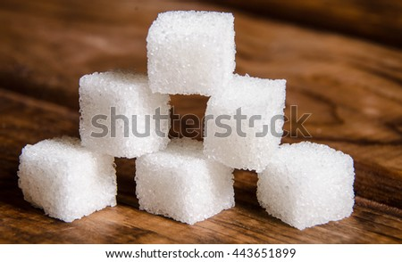 Cubes of sugar - stock photo
