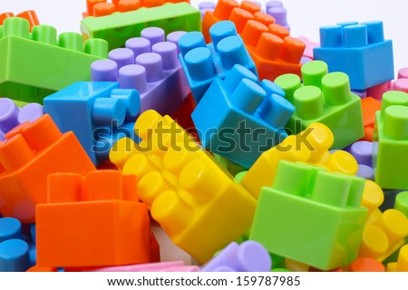 cubes of the children's designer - stock photo
