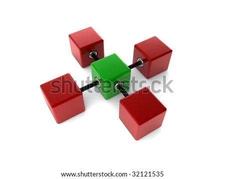 cubes on white background