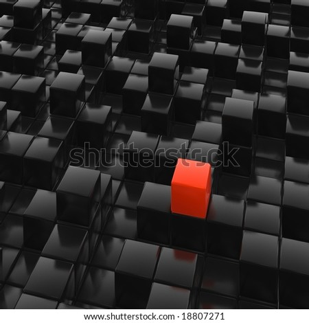 cubes town - stock photo