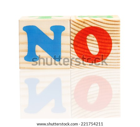 Cubes with letters - stock photo
