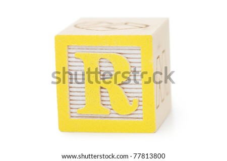 Cubes with letters isolated on white - stock photo