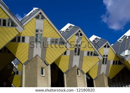 Cubic houses in Rotterdam, the Netherlands - stock photo