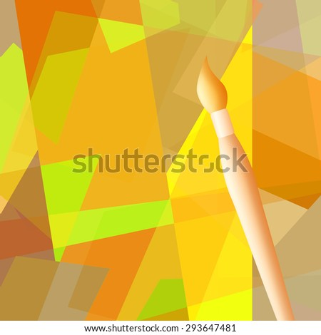 Cubism painting - stock photo