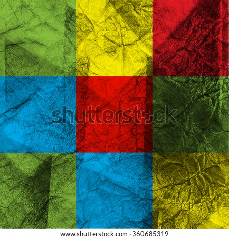 Cubist abstraction. Watercolor abstract art. Abstract texture paper. Cubist abstract art design - stock photo