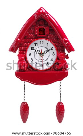 cuckoo clock - stock photo