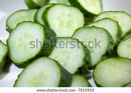 Cucumber slices - stock photo