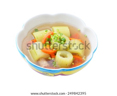 cucumber soup in a bowl