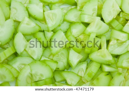 Cucumber Tiny Slices. Ideal for background