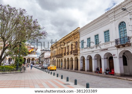 Cuenca, Ecuador - January 4, 2015: Cuenca is the capital the Azuay Province,old city of conquistadors in Latin America its center is a Unesco World Heritage