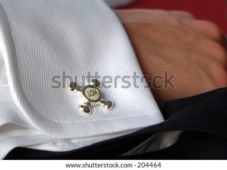 cufflink - stock photo