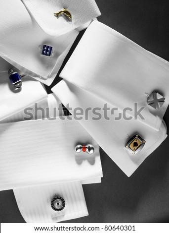 cufflinks beautiful and modern - stock photo