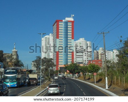 CUIABA, BRAZIL - JUNE 25, 2014: View of the city of Cuihaba in Brazil