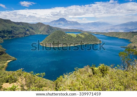 Cuicocha crater lake, Cotacachi-Cayapas Reserve, Ecuador - stock photo