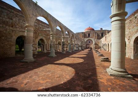 Cuilapa of Guerrero, ancient monastery located near Oaxaca, Mexico. - stock photo