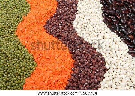 Cuisine choice. Cooking ingredients. Beans, peas, lentils.