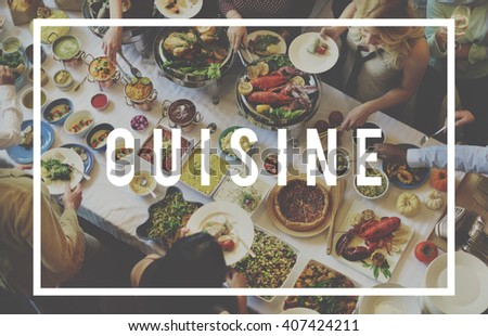 Cuisine Restaurant Kitchen Cafe Food Concept - stock photo