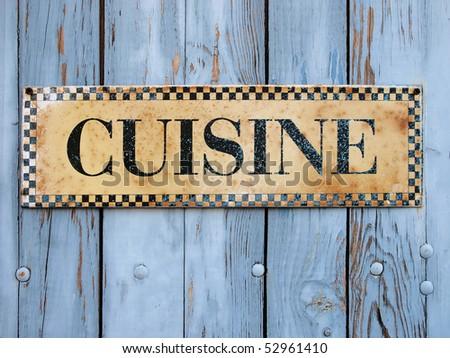 Cuisine sign - stock photo