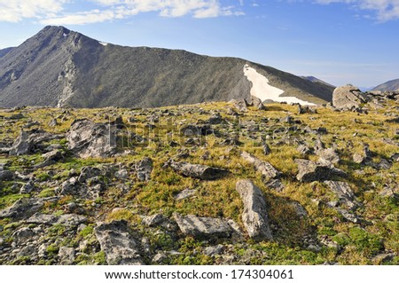 Culebra Peak,  A Remote 14er in the Sangre de Cristo Mountains, Colorado - stock photo