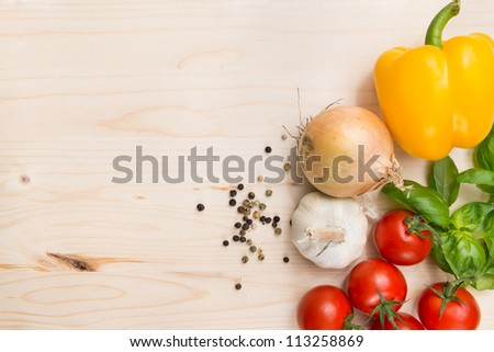 Culinary food background - stock photo