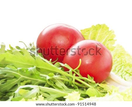 Culinary ingredients. Vegetables for a salad