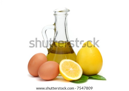 culinary set isolated on white - stock photo