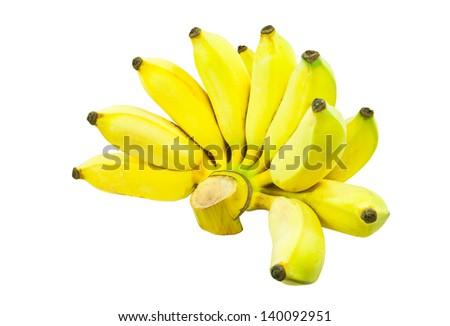 Cultivated banana - stock photo