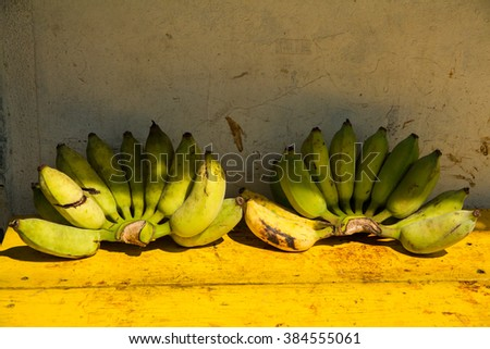 Cultivated banana ripe for eat.