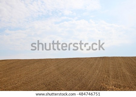 Cultivated field on hill