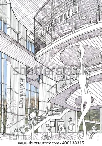 Cultural Center - exhibition  - stock photo