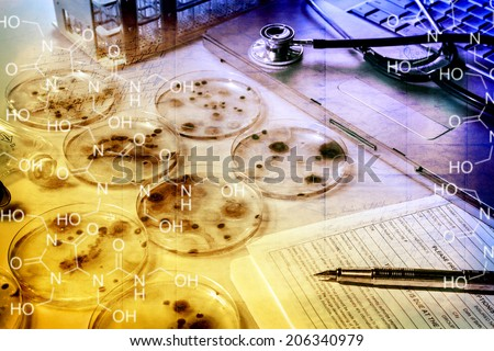 Cultures of Microbes - stock photo
