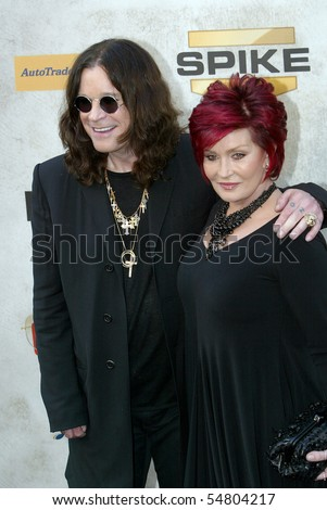 "CULVER CITY, CA - JUNE 5: Ozzy Osbourn & Sharon Osbourne arrive at the 4th annual Spike TV's ""Guy's Choice"" held June, 5, 2010 at Sony Studios in Culver City, CA. - stock photo"