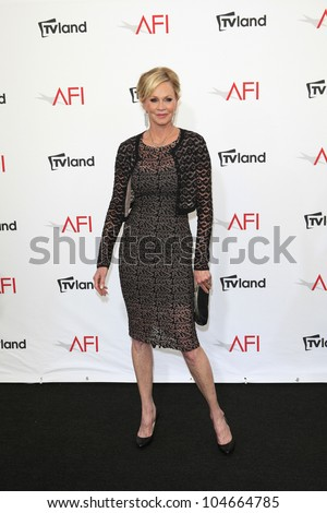 CULVER CITY - JUN 7: Melanie Griffith at the 40th AFI Life Achievement Award honoring Shirley MacLaine held at Sony Pictures Studios on June 7, 2012 in Culver City, California - stock photo