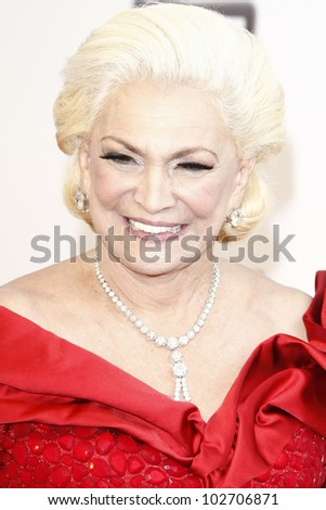 CULVER CITY - JUNE 9: Hebe Camargo at the 39th AFI Life Achievement Award Honoring Morgan Freeman held at Sony Pictures Studios  in Culver City, California on June 9, 2011. - stock photo