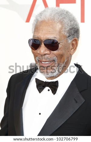 CULVER CITY - JUNE 9: Morgan Freeman at the 39th AFI Life Achievement Award Honoring Morgan Freeman held at Sony Pictures Studios  in Culver City, California on June 9, 2011. - stock photo