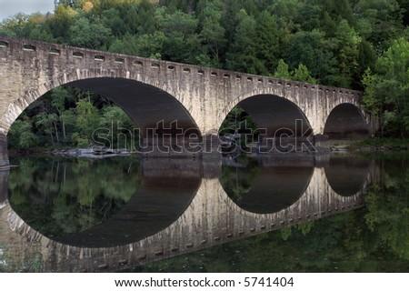 Cumberland Falls Stone Bridge - stock photo