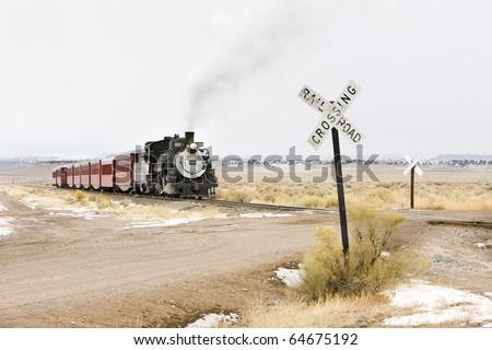 Cumbres and Toltec Narrow Gauge Railroad, Colorado, USA - stock photo