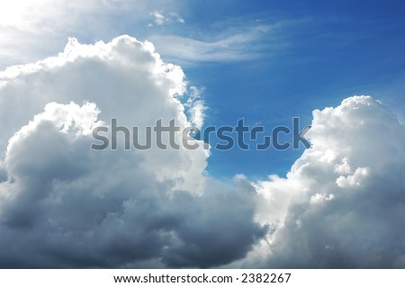 Cumulonimbus clouds - stock photo
