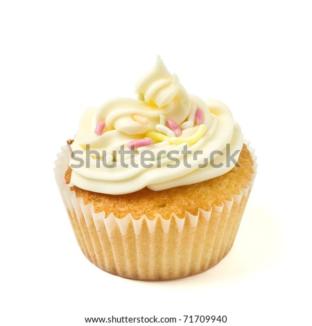 cup cake isolated on white
