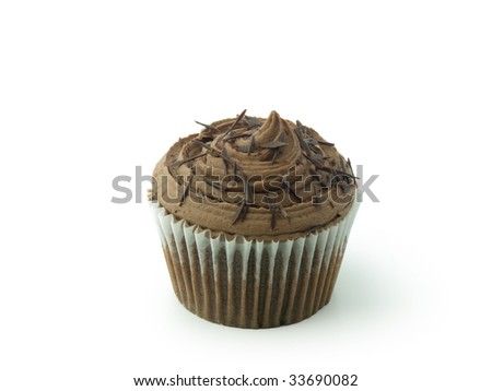 Cup cake with chocolate chips