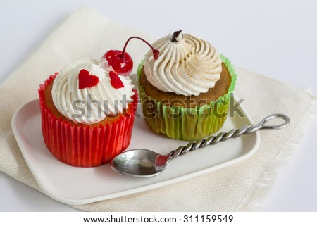 Cup Cakes on white background