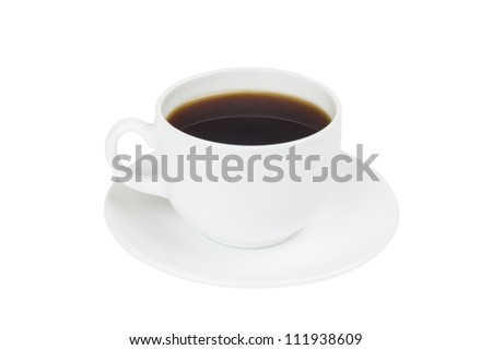 cup cofee isolated on white - stock photo