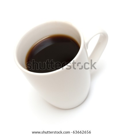 cup coffee isolated on white - stock photo