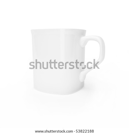 Cup isolated on a white background - stock photo