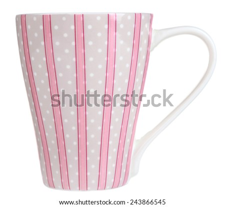 Cup isolated on white - stock photo