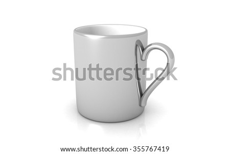 cup isolated on white background - stock photo