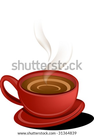 Cup of a hot coffee illustration